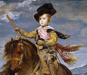 「王太子バルタサール・カルロス騎馬像(detail)」(1635‐1636年)ディエゴ・ベラスケス