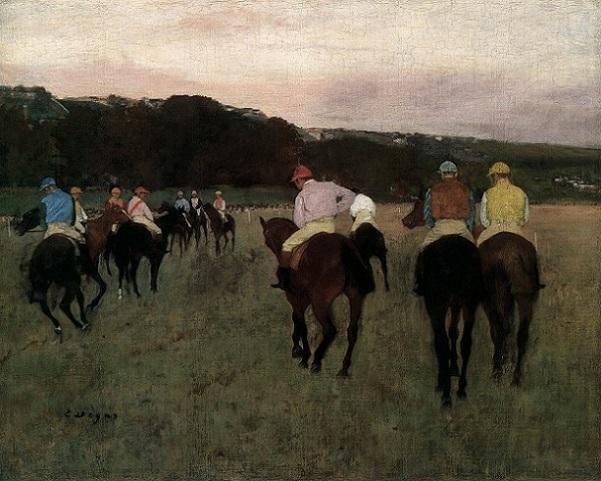 「ロンシャンの競走馬」(1873‐1875年)エドガー・ドガ