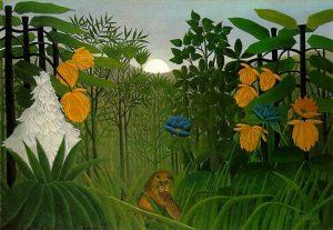 「ライオンの食事」(1907年)アンリ・ルソー