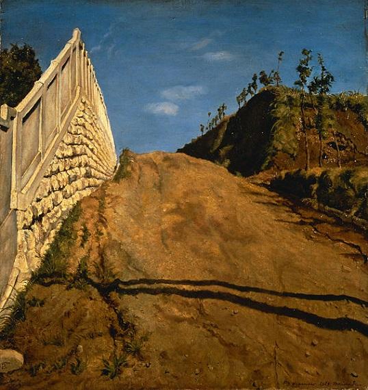 「道路と土手の塀(切通之写生)」(1915年11月5日)岸田劉生