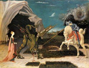 「聖ゲオルギウスと竜」(1470年頃)パオロ・ウッチェロ