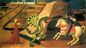 「聖ゲオルギウスと竜」(1458‐1460年頃)パオロ・ウッチェロ