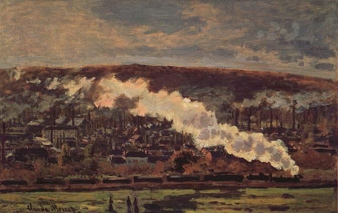 「貨物列車」(1872年)クロード・モネ