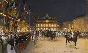 「The Outing of the Russian Emperor to the Opera Gala in Paris」(1896年)ルイジ・ロワール