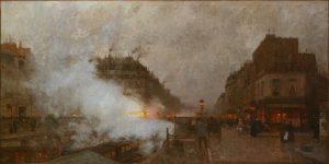 「Underground Railway」(1899年)ルイジ・ロワール