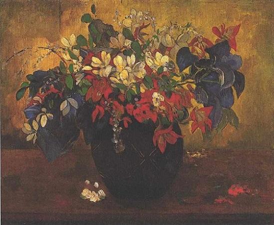 「花瓶の花」(1896年)ポール・ゴーギャン
