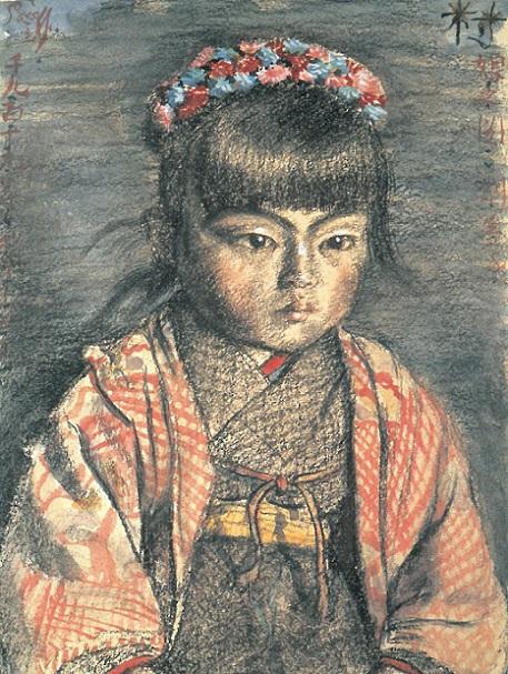 「村娘之図」(1919年4月13日)岸田劉生