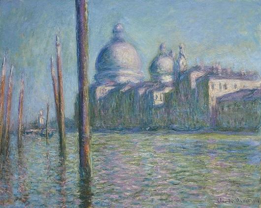「大運河」(1908年)クロード・モネ