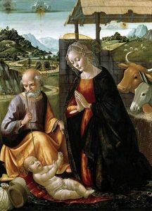 「キリストの降誕」(1492年頃)ドメニコ・ギルランダイオ
