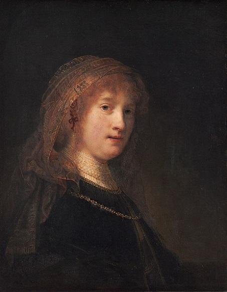 「サスキア・ファン・アイレンブルフの肖像」(1634年頃)レンブラント・ファン・レイン