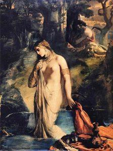 「水浴のスザンナ」(1839年) テオドール・シャセリオー