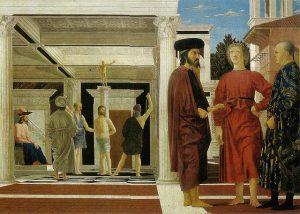 「キリストの鞭打ち」(1444‐1447年) ピエロ・デラ・フランチェスカ