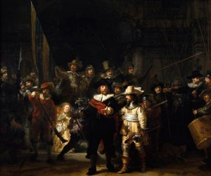 「夜警」(1642年)レンブラント・ファン・レイン