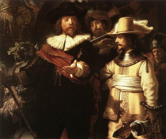 「夜警(detail)」(1642年)レンブラント・ファン・レイン