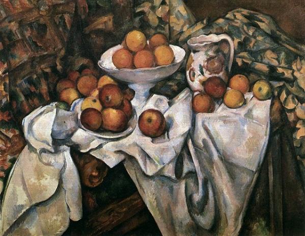 「リンゴとオレンジのある静物」(1895‐1900年)ポール・セザンヌ