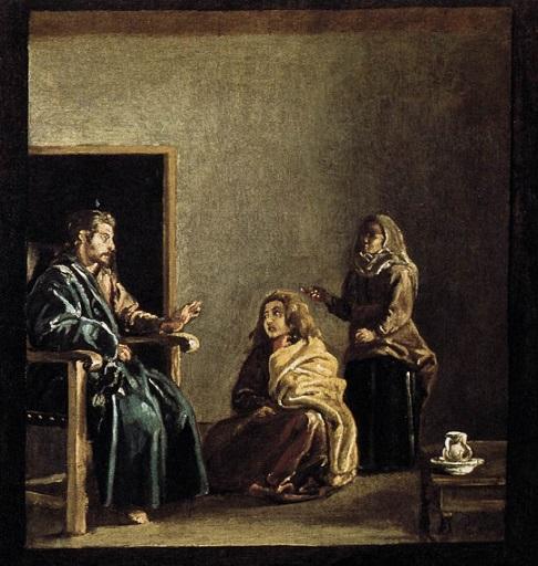 「マルタとマリアの家のキリスト(detail)」(1618年頃)ディエゴ・ベラスケス