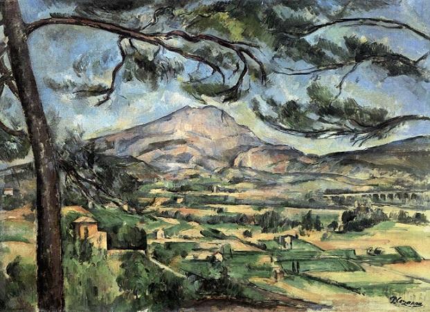 「サント・ヴィクトワール山」(1887年頃)ポール・セザンヌ
