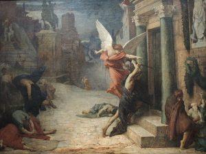 「ローマのペスト」(1869年)ジュール=エリー・ドローネー