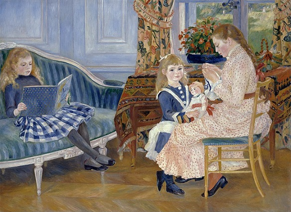 「ヴァルジュモンの午後」(1884年)ピエール=オーギュスト・ルノワール