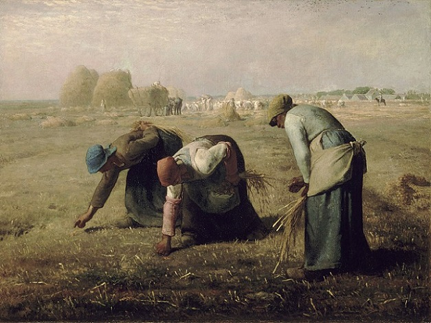 「落穂拾い」(1857年)ジャン=フランソワ・ミレー