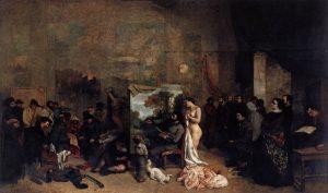 「画家のアトリエ」(1854‐1855年)ギュスターヴ・クールベ