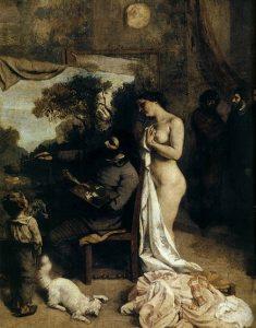 「画家のアトリエ(detail)」(1854‐1855年)ギュスターヴ・クールベ