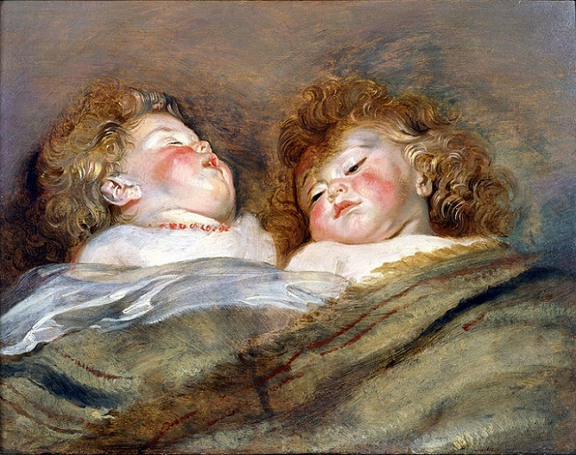 「眠る二人の子ども」(1612‐1613年頃)ペーテル・パウル・ルーベンス