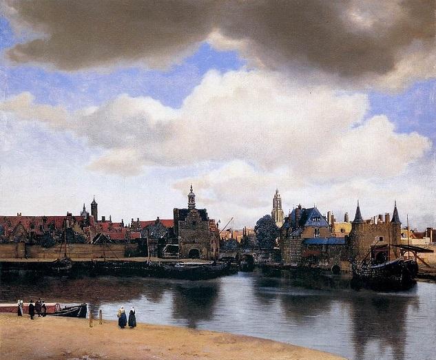 「デルフトの眺望」(1659年‐1660年)ヨハネス・フェルメール