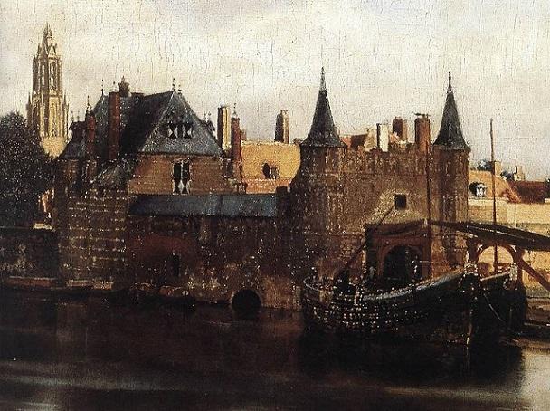 「デルフトの眺望(detail)」(1659年‐1660年)ヨハネス・フェルメール