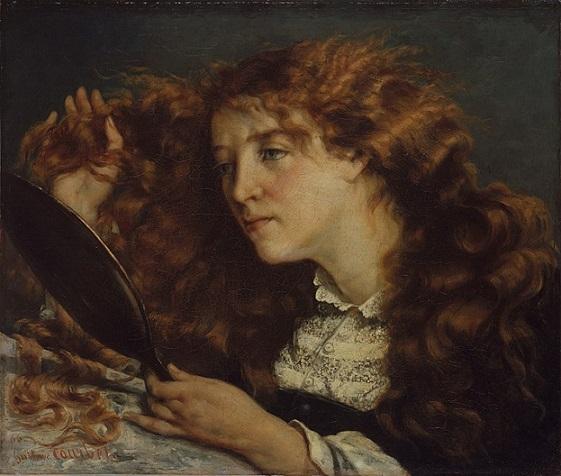 「美しきアイルランド女性(ジョーの肖像)」(1865‐66年頃)ギュスターヴ・クールベ