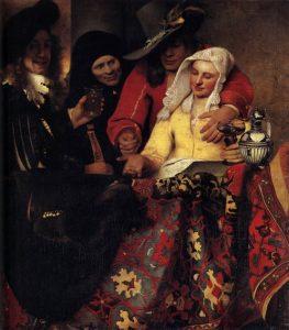 「取り持ち女」(1656年)ヨハネス・フェルメール