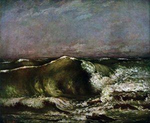 「波」(1870年)ギュスターヴ・クールベ