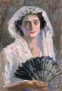「黒扇」(1908‐1909年)藤島武二