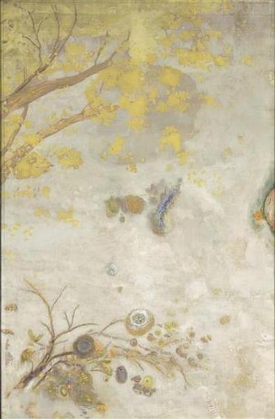 「黄色い花咲く枝」(1900‐1901年)オディロン・ルドン