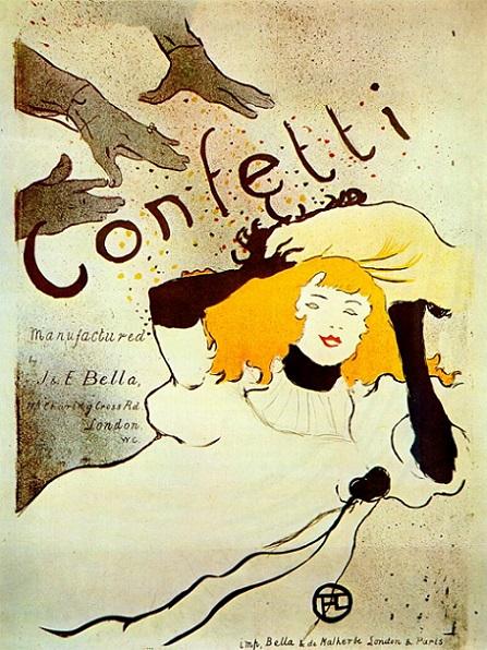 「コンフェッティ」(1894年)アンリ・ド・トゥールーズ=ロートレック