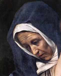「キリストの埋葬(detail)」(1602年)カラヴァッジョ