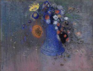 「青い花瓶の花」(1904年頃)オディロン・ルドン