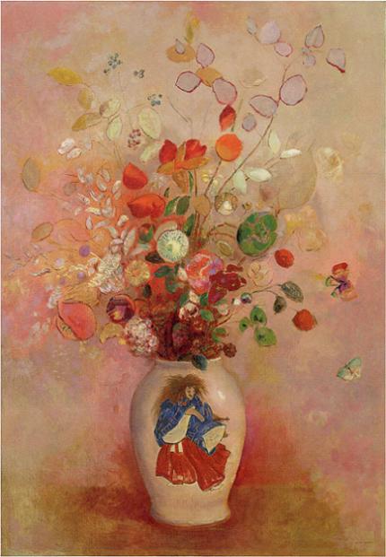 「日本風の花瓶」(1908年)オディロン・ルドン