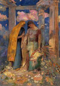 「神秘的な対話」(1896年頃)オディロン・ルドン