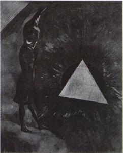 「絶対の探求…哲学者」(1880年頃)オディロン・ルドン