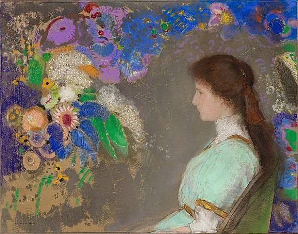 「ヴィオレット・ハイマンの肖像」(1910年)オディロン・ルドン