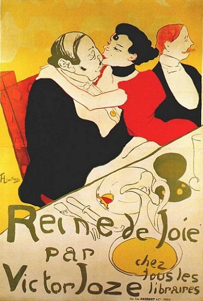 「悦楽の女王」(1892年)アンリ・ド・トゥールーズ=ロートレック