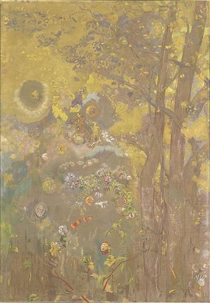 「黄色い背景の樹」(1900‐1901年)オディロン・ルドン