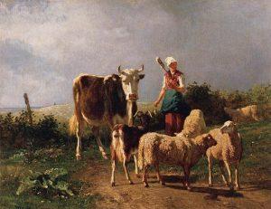「小さな群れ」(1860年)コンスタン・トロワイヨン