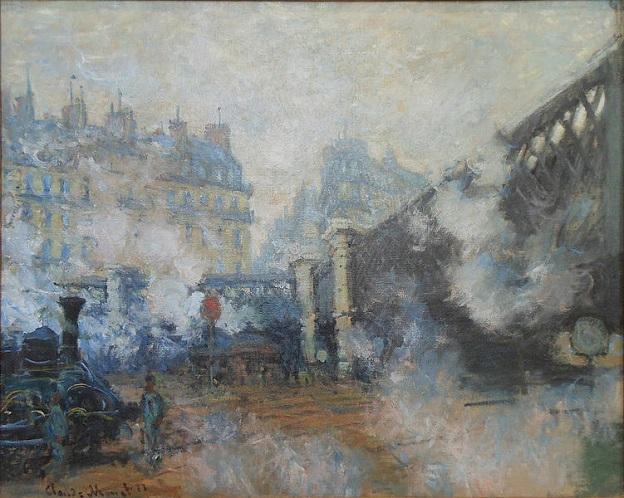 「ヨーロッパ橋、サン=ラザール駅」(1877年)クロード・モネ