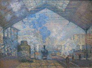 「サン=ラザール駅」(1877年)クロード・モネ