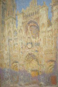 「ルーアン大聖堂:西面、陽光」(1894年)クロード・モネ