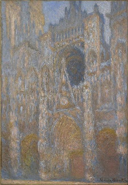 「ルーアン大聖堂:陽光のファサード」(1892‐1894年頃)クロード・モネ