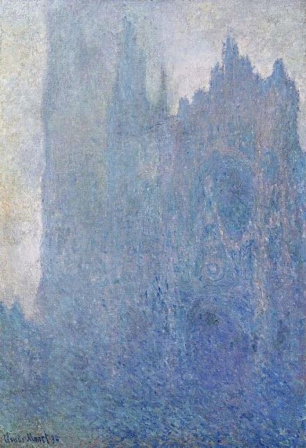 「霧の中のルーアン大聖堂」(1894年)クロード・モネ