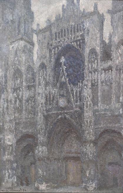 「ルーアン大聖堂:扉口、曇天」(1892年)クロード・モネ